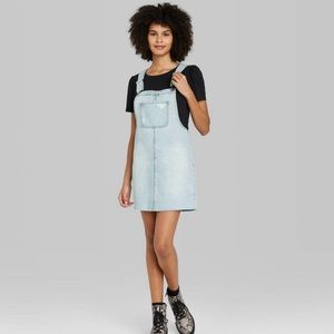 NWT Wild Fable Denim Pinafore